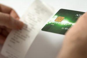 クレジットカードとレシート