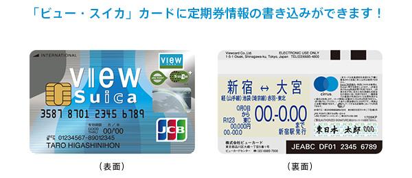 「ビュー・スイカ」カード 定期券