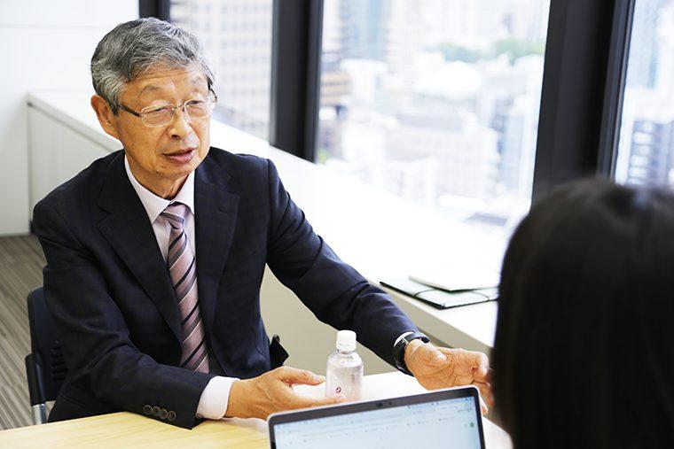 株式貯蓄の考え|インタビュー画像。福沢隆雄さん