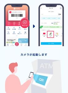 PayPay銀行ATM操作画面