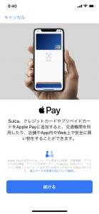 Apple Pay設定画面2