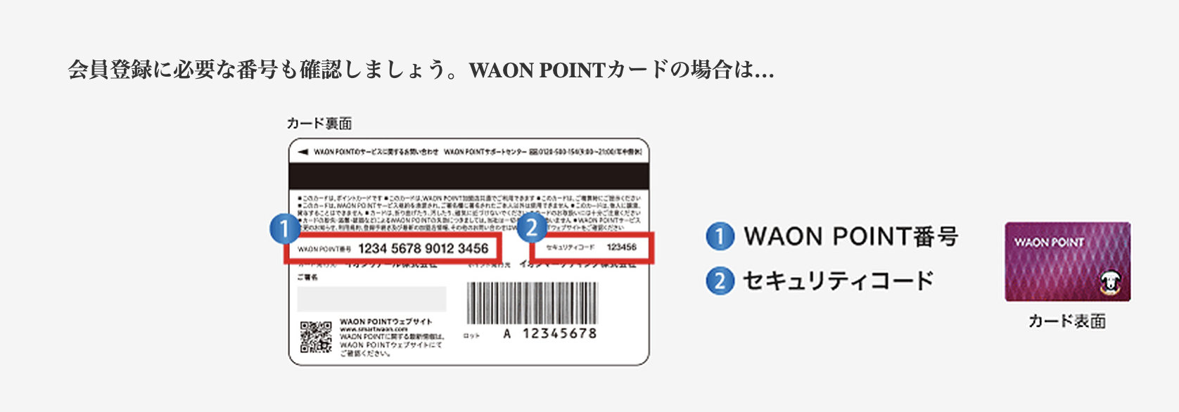 WAON POINTの会員ウェブ登録