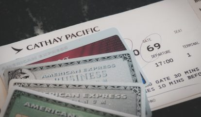 クレジットカードと搭乗券