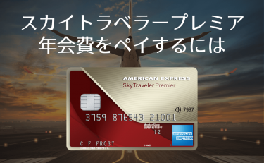 スカイトラベラープレミアの年会費をペイするには航空券いくら分必要?