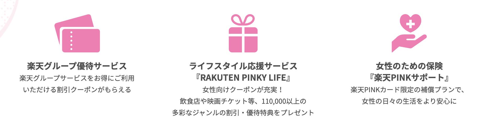 楽天PINKカード限定カスタマイズ特典