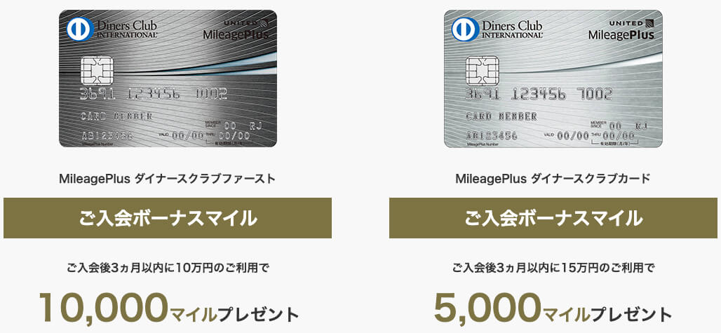 MileagePlus ダイナースクラブキャンペーン