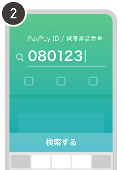 PayPay残高を電話番号で送る