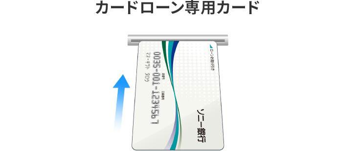 ソニー銀行カードローン ATM挿入方法