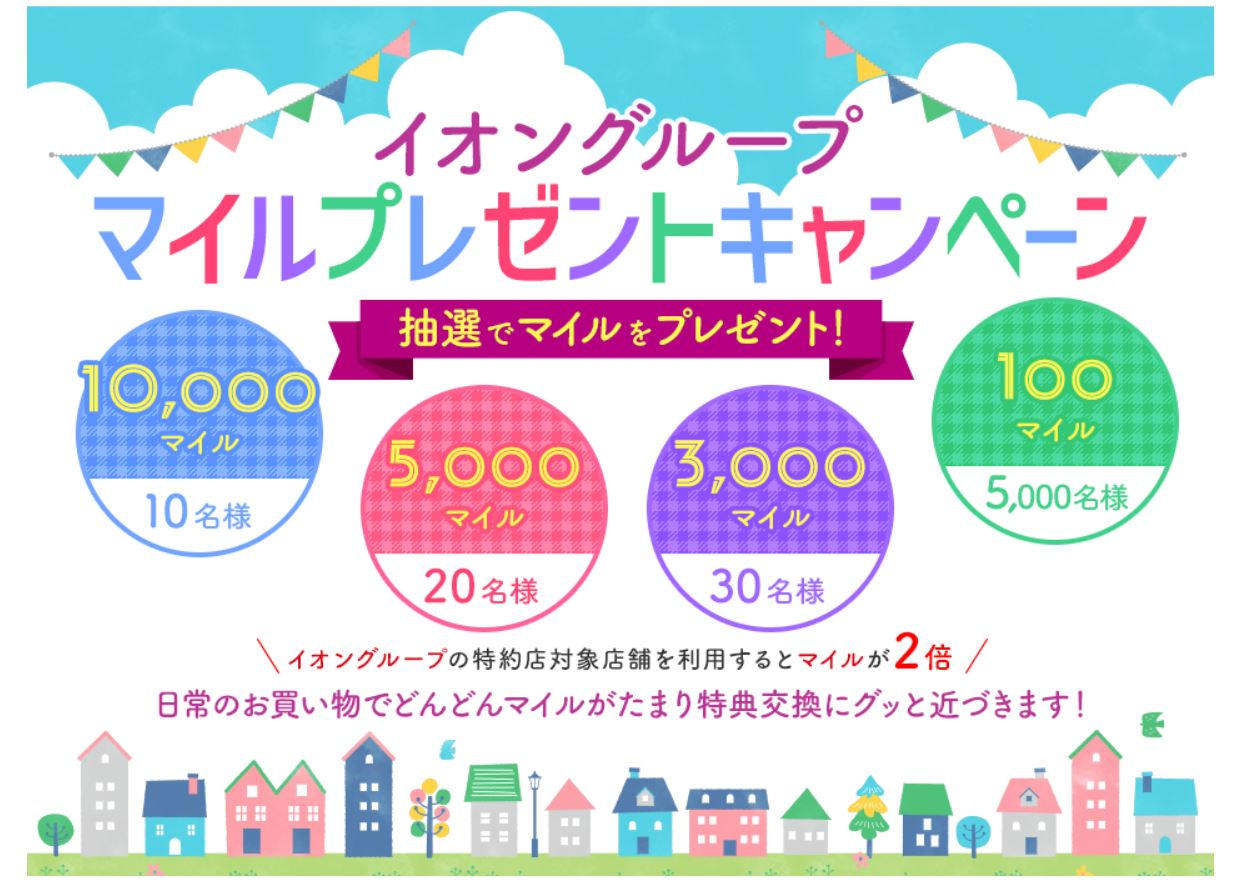 JALカード特約店「イオングループ」マイルプレゼントキャンペーン