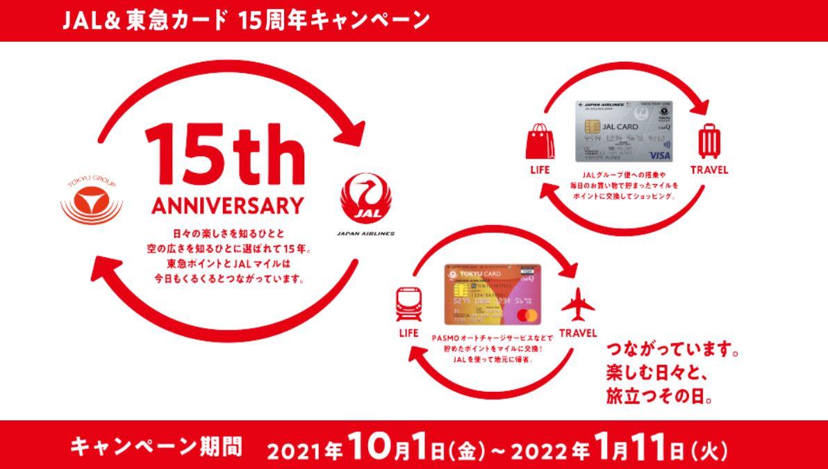JAL&東急カード 15周年キャンペーン